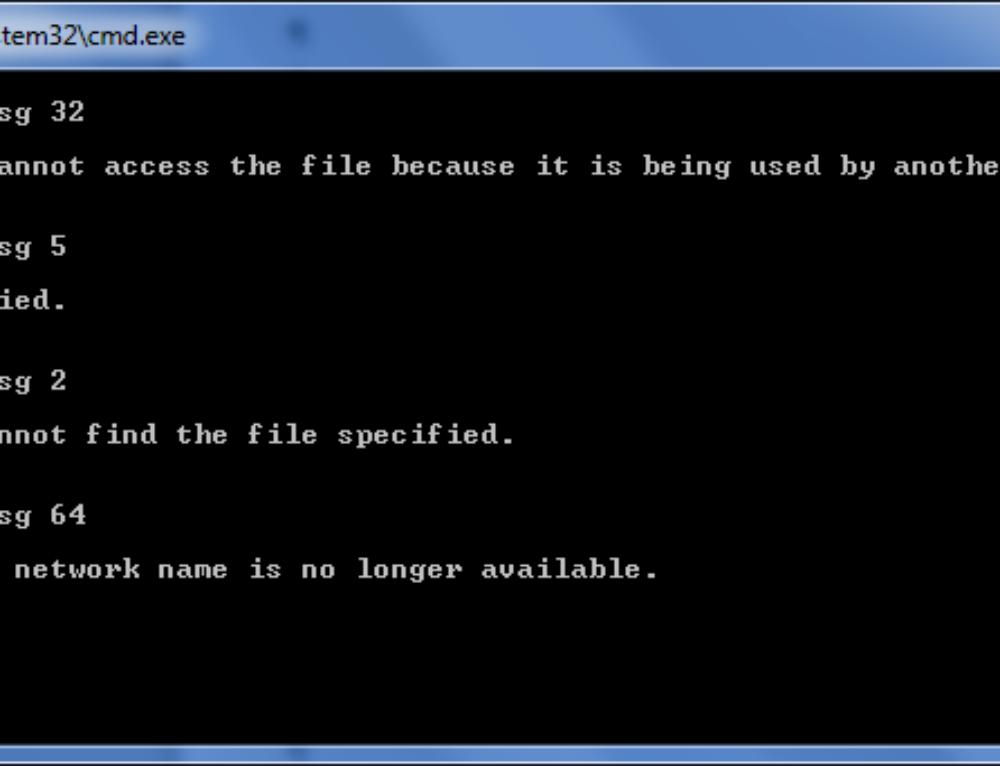 EMCopy error codes